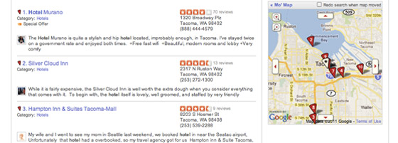 Online reviews hotels