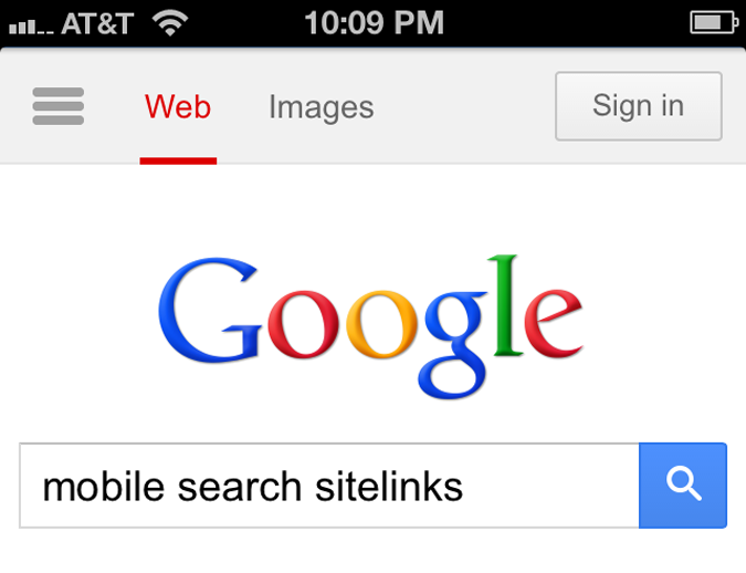 google-mobile-sitelinks